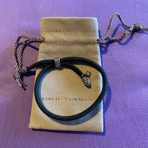 NWOT David Yurman corded bracelet sterling silver
